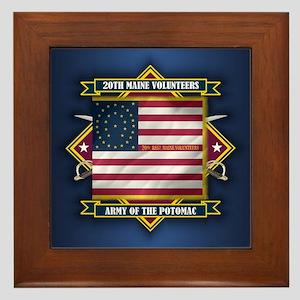 20th Maine V.I. Framed Tile