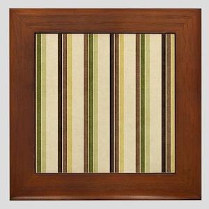 Natures Stripes Framed Tile