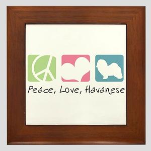 Peace, Love, Havanese Framed Tile