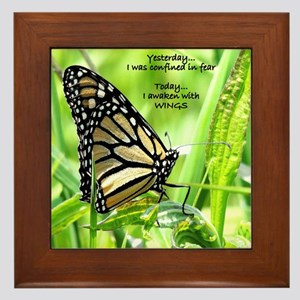 Thinking Butterfly Framed Tile