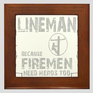 lineman because 1 Framed Tile