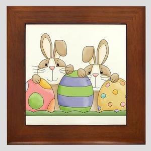 Easter Bunny Inside Easter Egg Framed Tile