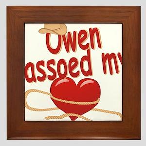 owen-b-lassoed Framed Tile