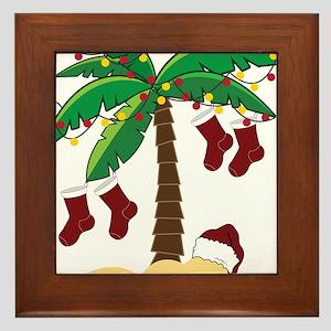 Tropical Christmas Framed Tile