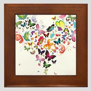 Heart of Butterflies Framed Tile