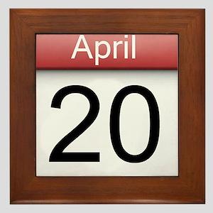 4:20 Date Framed Tile