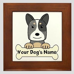 Personalized Cattle Dog Framed Tile