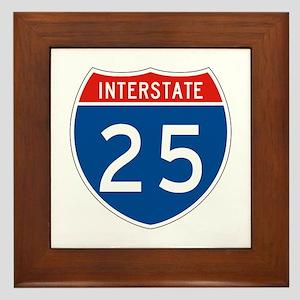 Interstate 25, USA Framed Tile