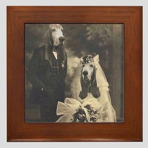 Basset VINTAGE WEDDING Framed Tile