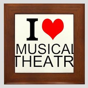 I Love Musical Theatre Framed Tile