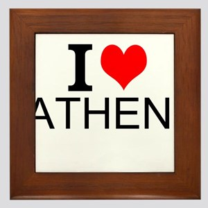 I Love Athens Framed Tile