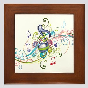 Music in the air Framed Tile