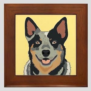 Australian Cattle Dog Framed Tile
