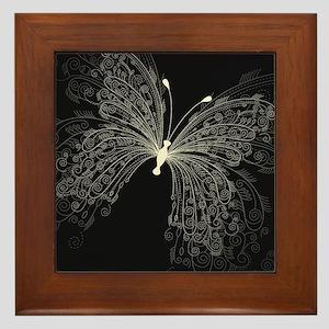 Elegant Butterfly Framed Tile