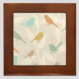 Pretty Birds Framed Tile