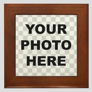 Your Photo Here Framed Tile