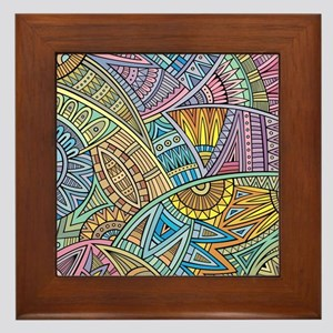 Colorful Abstract Framed Tile