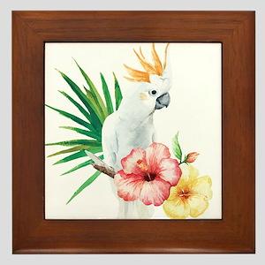 Tropical Cockatoo Framed Tile