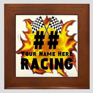 Flaming Racing Framed Tile