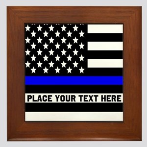 Thin Blue Line Flag Framed Tile