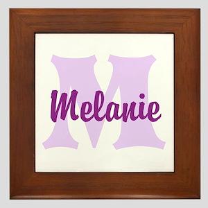 CUSTOM Lilac Purple Monogram Framed Tile