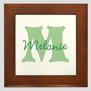 CUSTOM Green Monogram Framed Tile