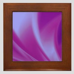 Veils of Purple Fractal Framed Tile