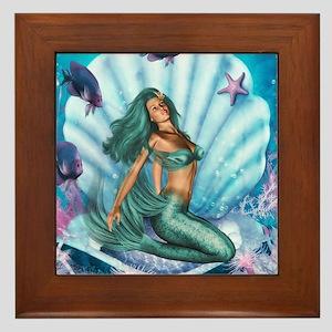 Best Seller Merrow Mermaid Framed Tile