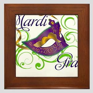MardiGras Framed Tile