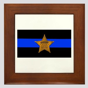 Sheriff Thin Blue Line Framed Tile