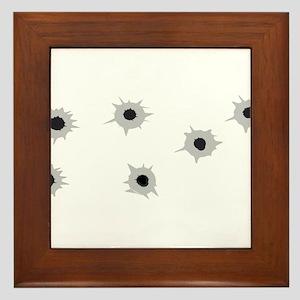 Bullet Holes Framed Tile
