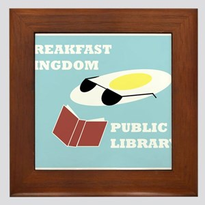 Breakfast Kingdom Public Library Framed Tile