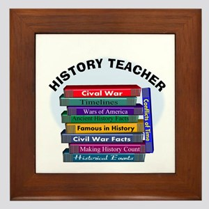 hISTORY TEACHER Framed Tile