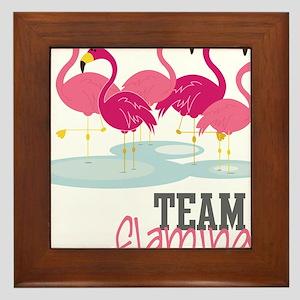 Team Flamingo Framed Tile