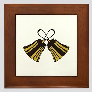 Crossed Handbells Framed Tile