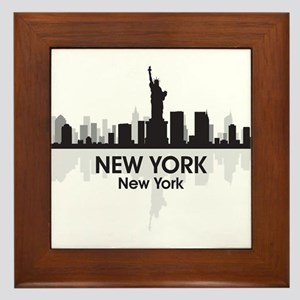 New York Skyline Framed Tile