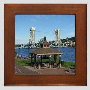 Portage Lake Bridge Framed Tile