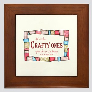 QUILTING HUMOR Framed Tile
