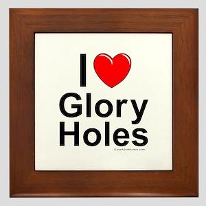Glory Holes Framed Tile