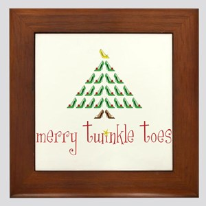Merry Twinkle Toes Framed Tile