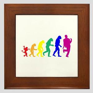 Gay Evolution Framed Tile