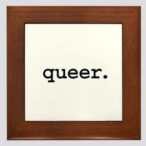 queer. Framed Tile