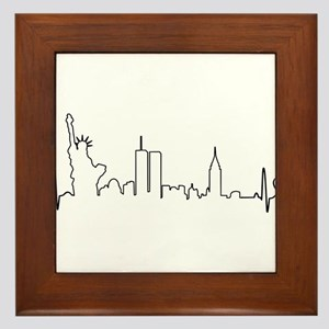 New York Heartbeat (Heart) Framed Tile