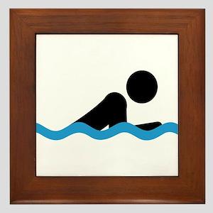 breaststroke Framed Tile