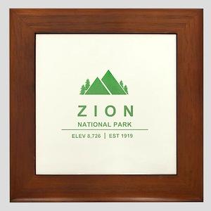 Zion National Park, Utah Framed Tile