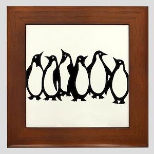 6 Penguins Framed Tile