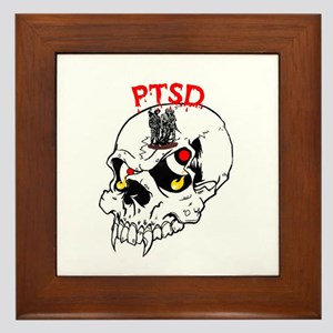PTSD SKULL Framed Tile