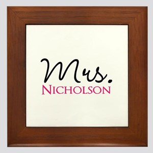 Customizable Name Mrs Framed Tile