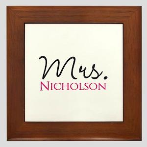 Customizable Name Mrs Framed Tile