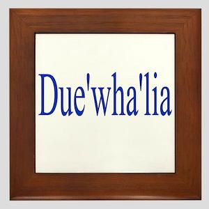 Duewhalia Framed Tile